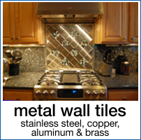 Stainless Steel, Brass, Copper and Aluminum Wall Tiles